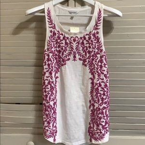 Lucky Brand Deep Lavender Embroidered Tank sz Sm